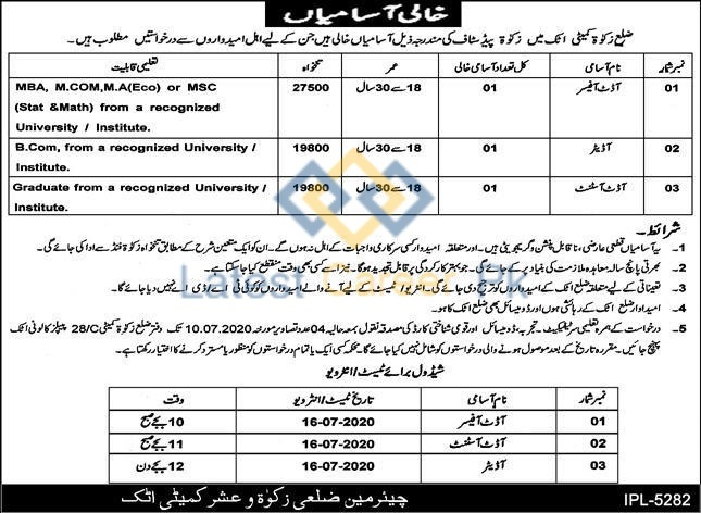 District-Zakat-Committee-Office-Attock-Jobs-27-June-2020