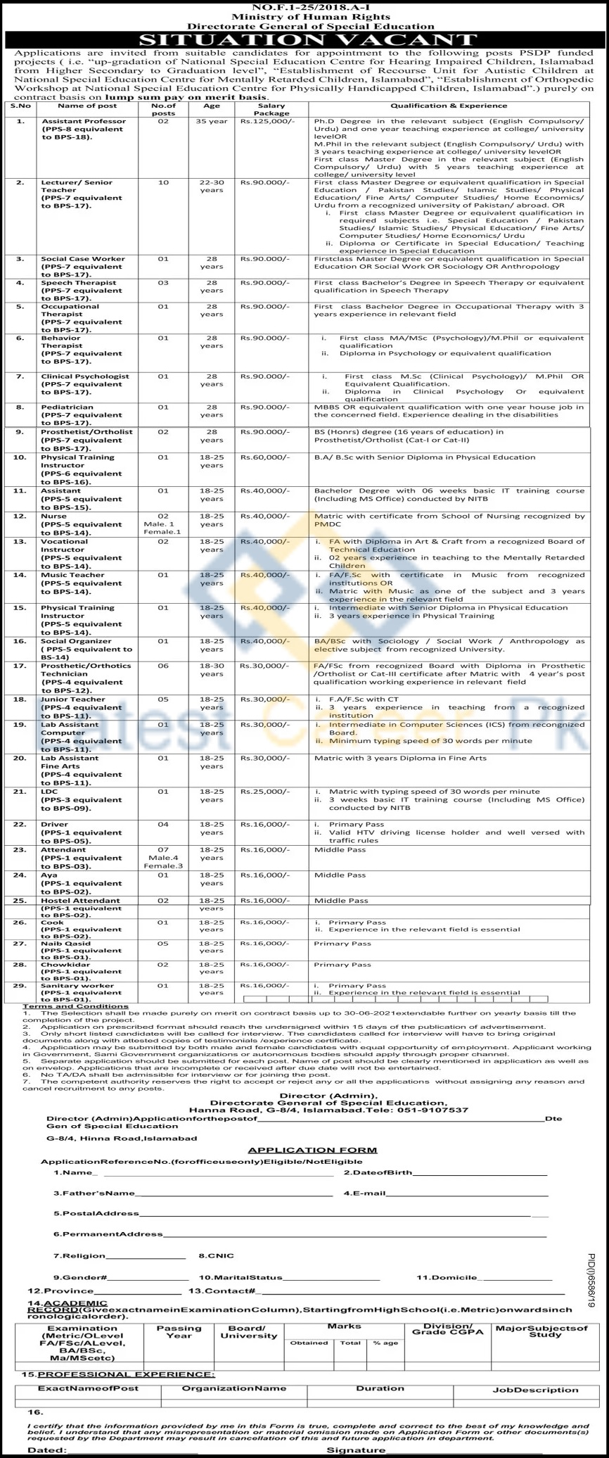 Govt-of-Pakistan-Ministry-of-Human-Rights-MOHR-Islamabad-Jobs-10-June-2020