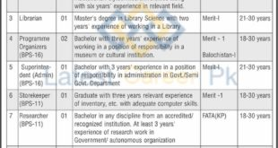 National-Institute-of-Folk-and-Traditional-Heritage-NIFTH-Islamabad-Jobs-03-June-2020