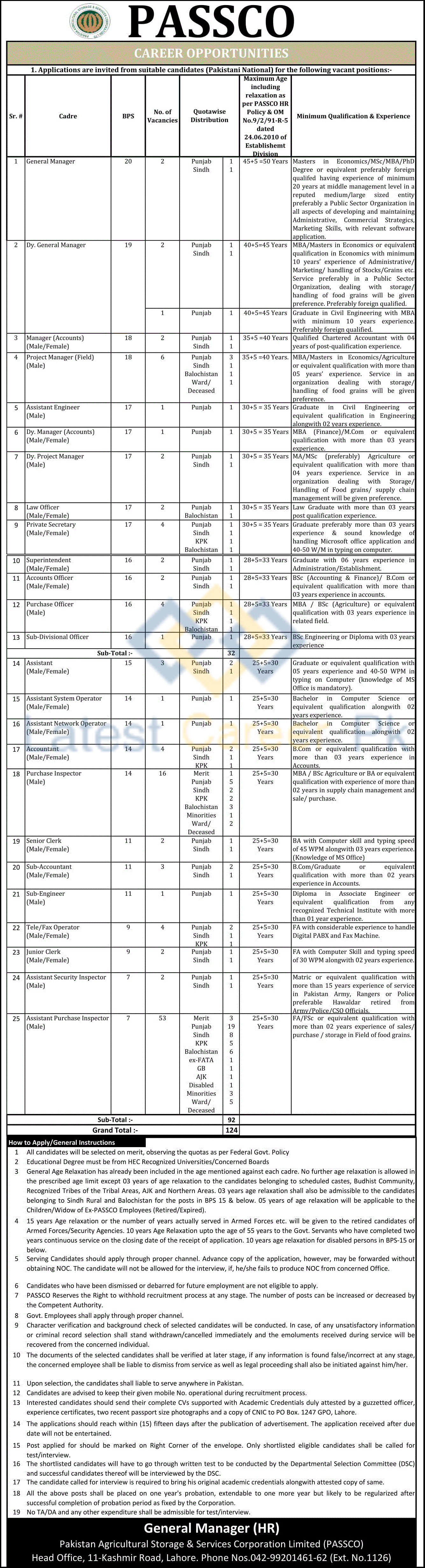 Pakistan-Agricultural-Storage-and-Services-Corporation-Limited-PASSCO-Lahore-Jobs-17-June-2020