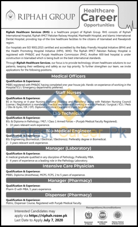 Riphah-Healthcare-Services-RHS-Islamabad-Jobs-28-June-2020