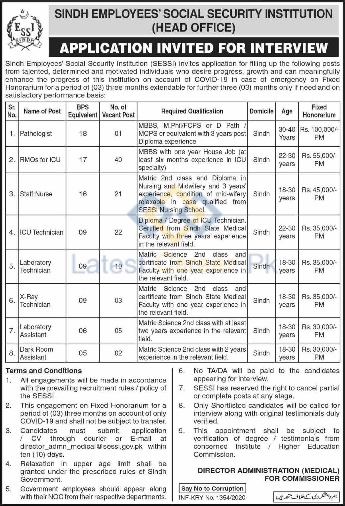 Sindh-Employees-Social-Security-Institution-SESSI-Sind-Jobs-04-June-2020