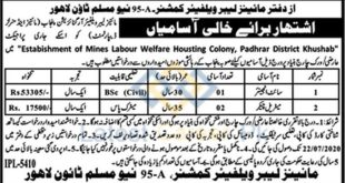 Mines-Labour-Welfare-Housing-Colony-District-Khushab-Jobs-01-July-2020
