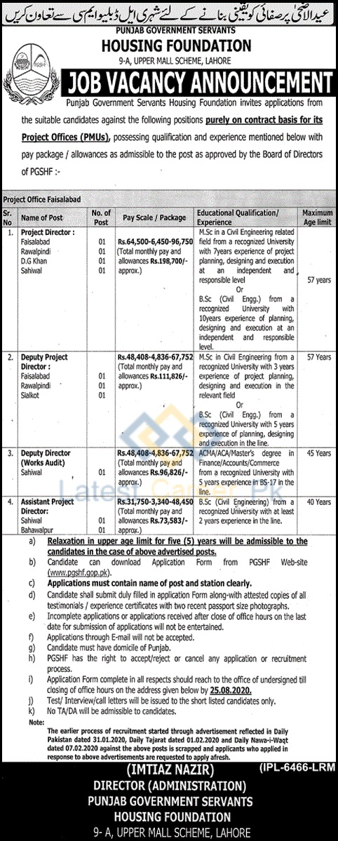 Government-of-Punjab-Servants-Housing-Foundation-Lahore-Jobs-02-Aug-2020